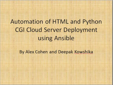 Using Ansible for Python CGI and HTML Deployment