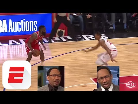 How Stephen A. Smith would call James Harden's nasty crossover on Wesley Johnson | ESPN