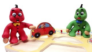 Red and Green Baby in LEARNING VEHICLES - Stop Motion Cartoons For Kids #88