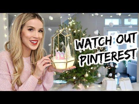 DIY CHRISTMAS DECOR WINDOW & PUTZ HOUSE | leighannsays | LeighAnnSays