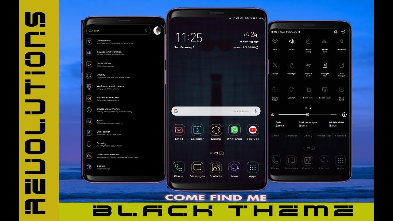 Revolution Black Theme | Samsung Theme apk | No root