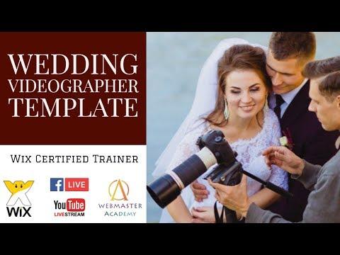 Wedding Videographer Template From Wix Web Design Tutorial Part