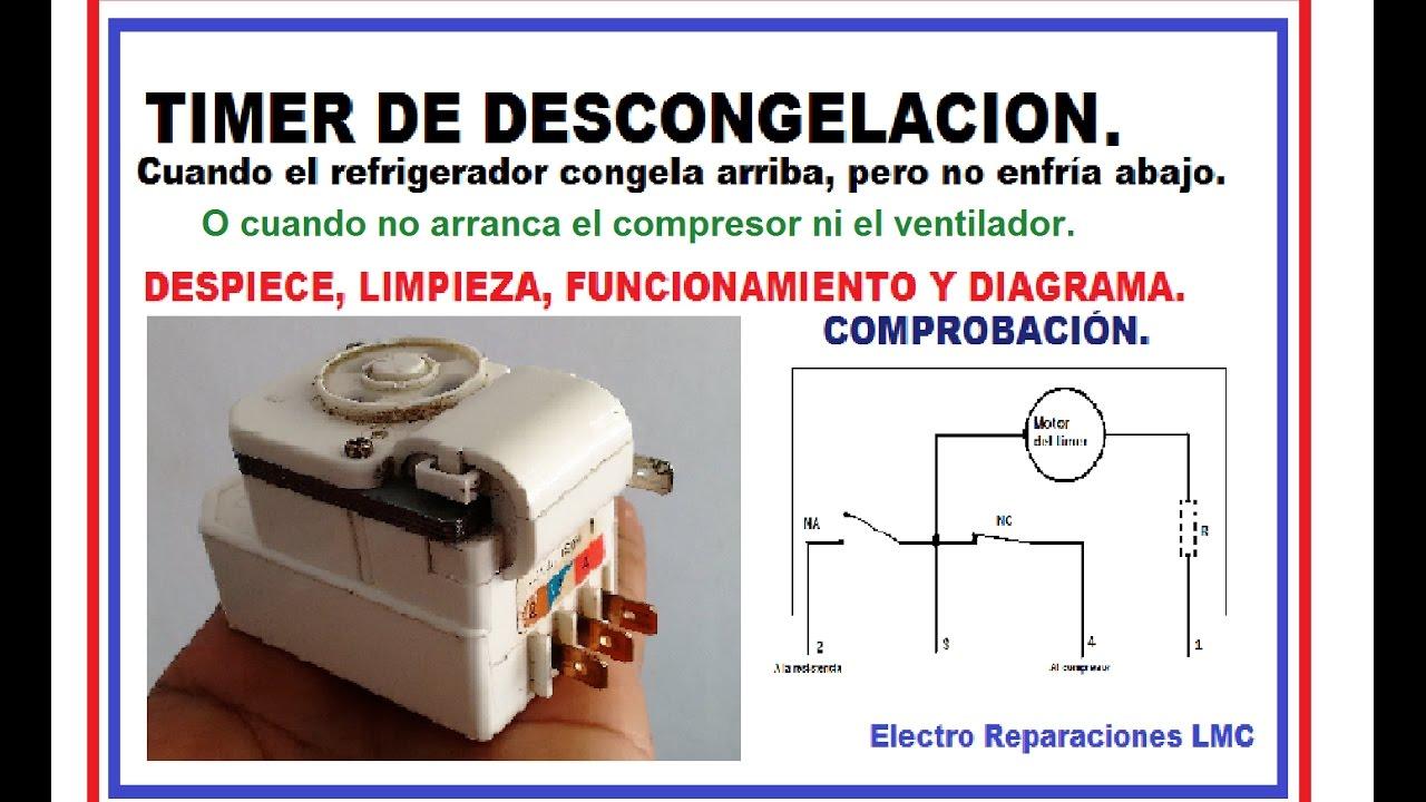 Timer de descongelaci n refrigerador no frost no arranca - Instalacion electrica domestica ...