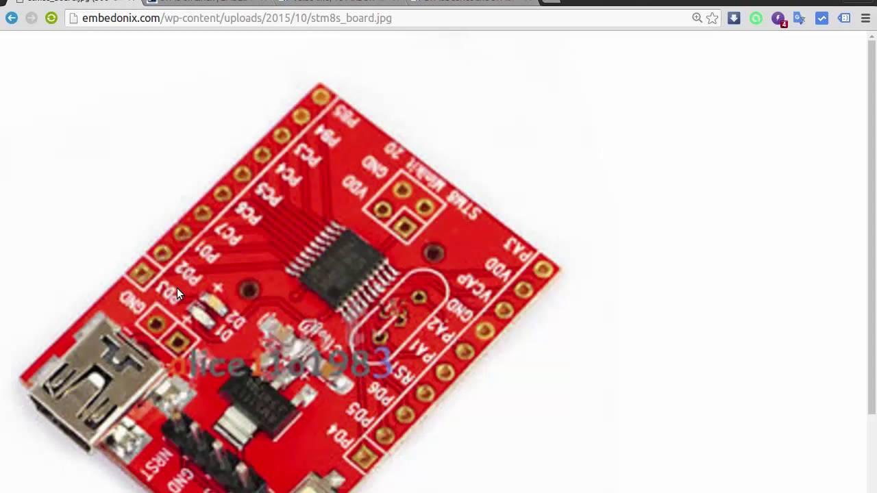 STM8 Tutorial From Scratch #1 - LED Blink -