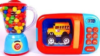 Learn your Colors with Microwave Playset and Toy Vehicles for Children and Yippee Toys