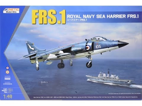 Kinetic Moels : FRS.1 Sea Harrier : 1/48 Scale Model : In Box Review
