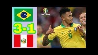 Brazil vs Peru 3-1 Goals  Highlights - Final Copa America 2019 HD