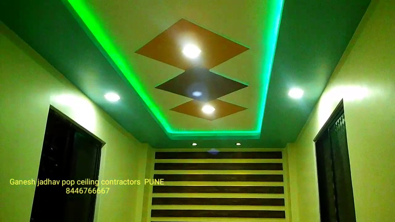 Small Office Pop Ceiling Design Youtube