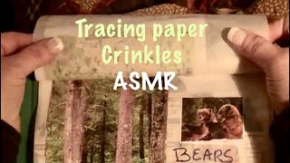 ASMR/Page turning of crinkly tracing paper (No talking)