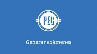 Cómo crear exámenes en línea en PEG