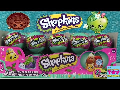 Shopkins Baubles Christmas Ornaments Full Box Toy Review Opening | PSToyReviews