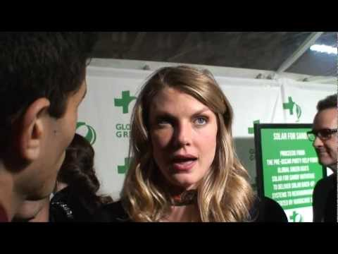 Model/Actress Angela Lindvall Interviewed By Ken Spector - Global Green USA's Pre-Oscar Party 2013