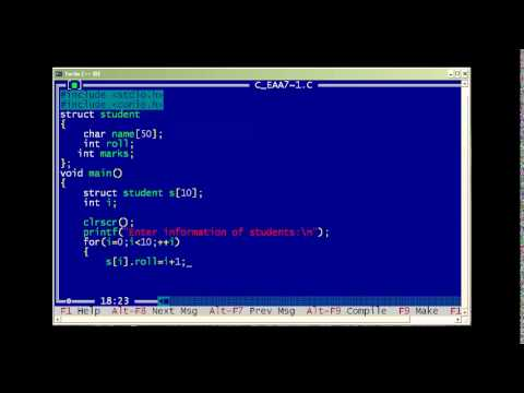 C Program to Store Information of 10 Students Using Structure
