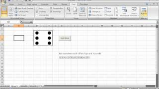 Create a Roll a Dice Program in Excel