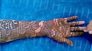 Full Hand Bridal Henna Design - Mehndi Design for Wedding
