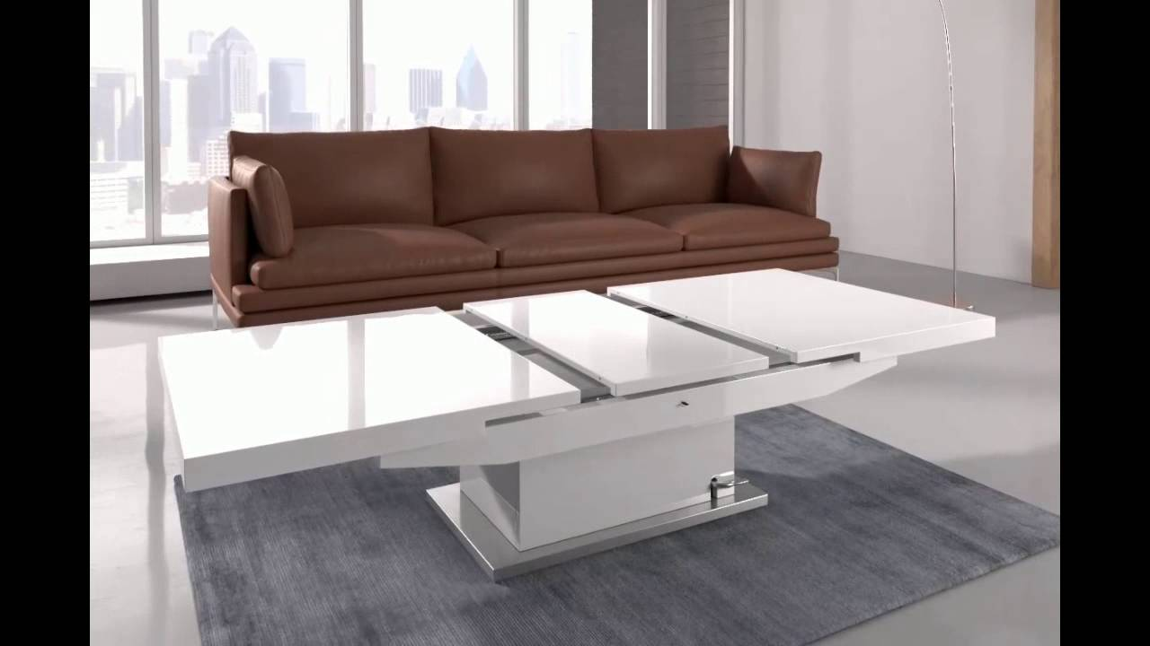 elgin coffee table that also converts to a dining table in w - youtube