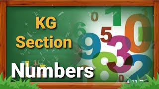 Numbers 1 to 10 | KG Section | Rajna Teacher | Online Class