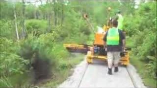 Cotton Valley Rail Trail Brushcutting