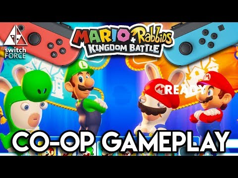 Mario + Rabbids Kingdom Battle EXCLUSIVE FIRST CO-OP GAMEPLAY!!