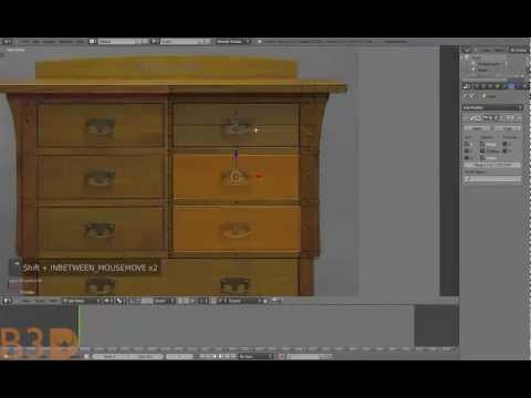 Blender for Beginners: Modeling a chest of drawers by Bshep