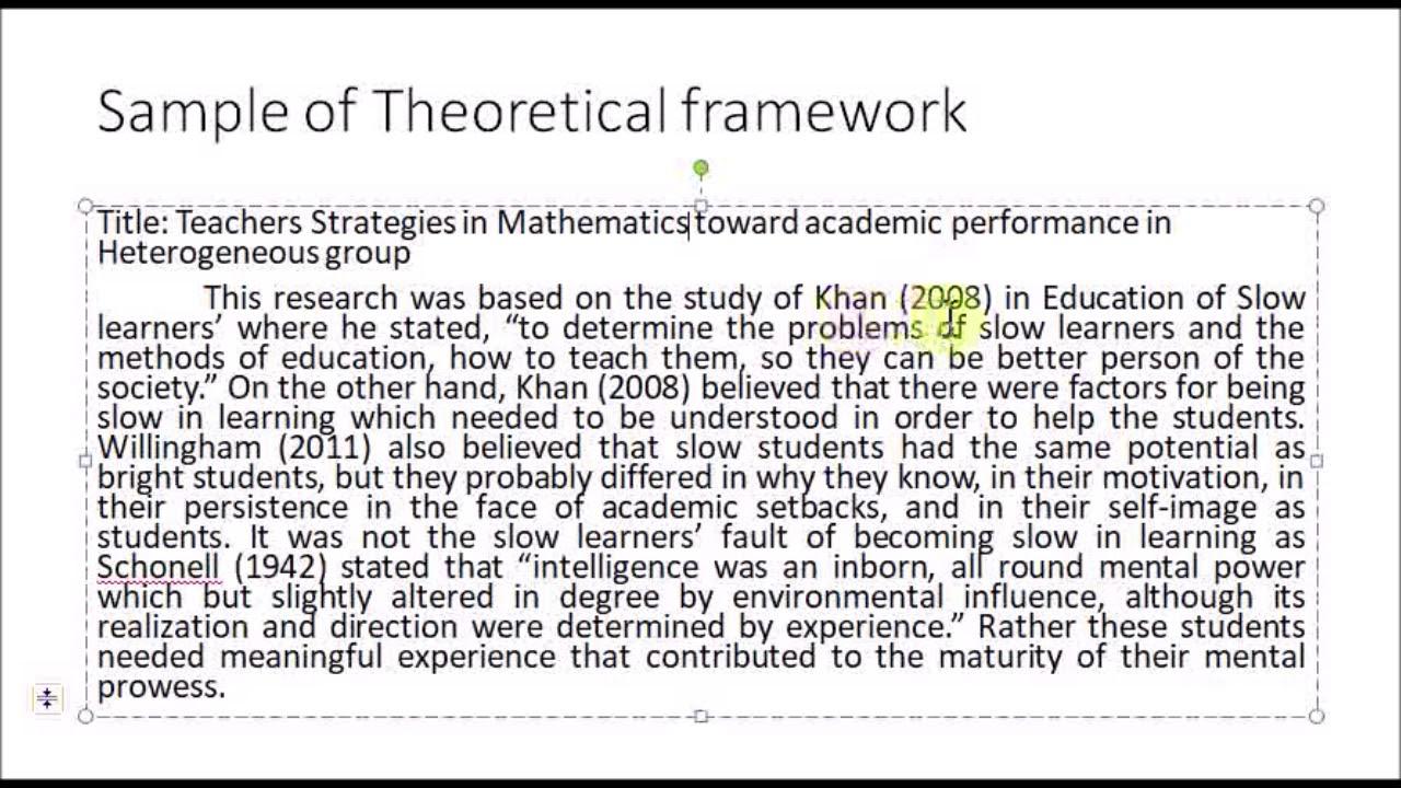 Theoretical Framework Explained In Filipino - YouTube