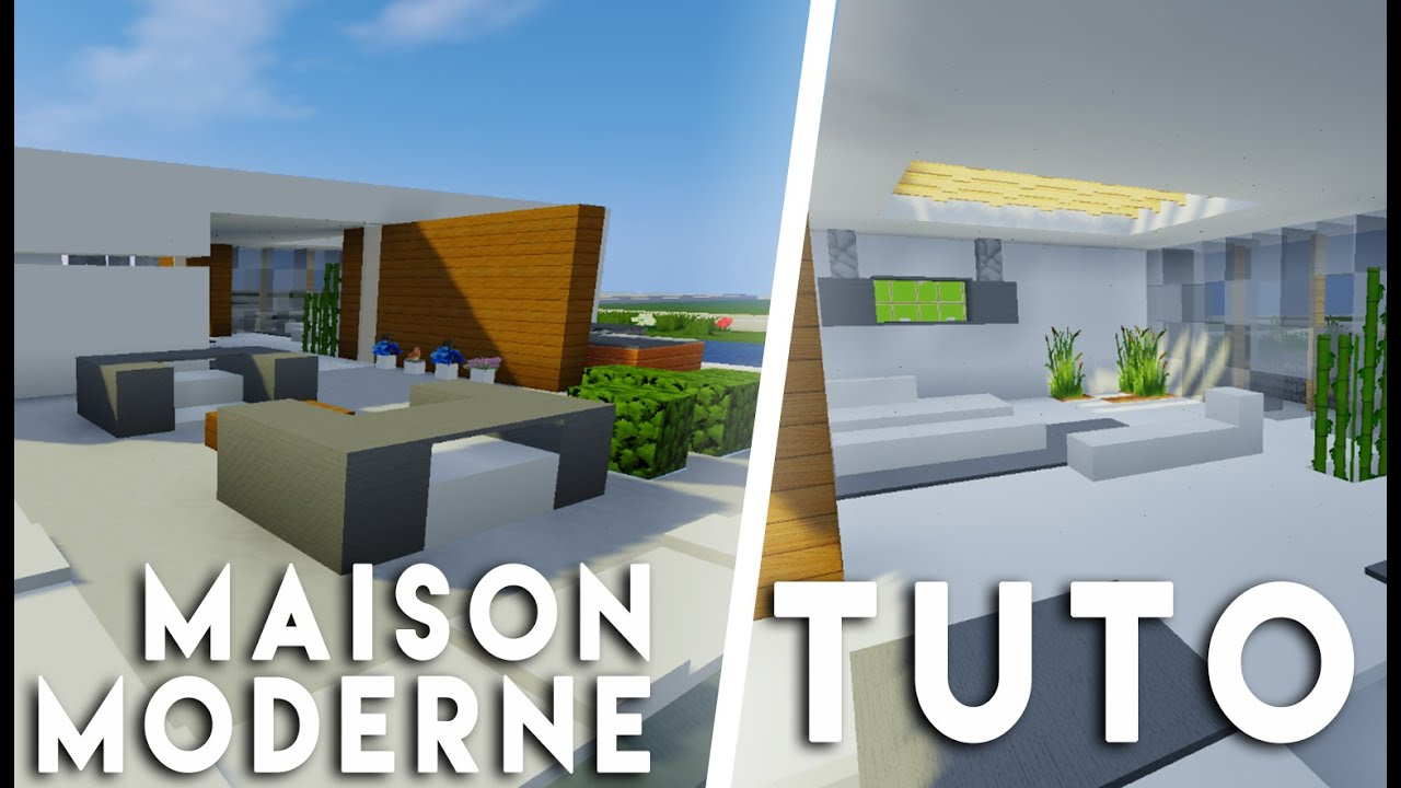Minecraft tuto construction maison moderne flottante for Minecraft construction maison moderne