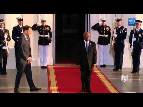 Liberia Vice President Joseph Boakai arrives at the White House Diner
