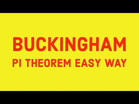 Dimensional analysis Buckingham pi theorem: Basic Heat and Mass Transfer lectures