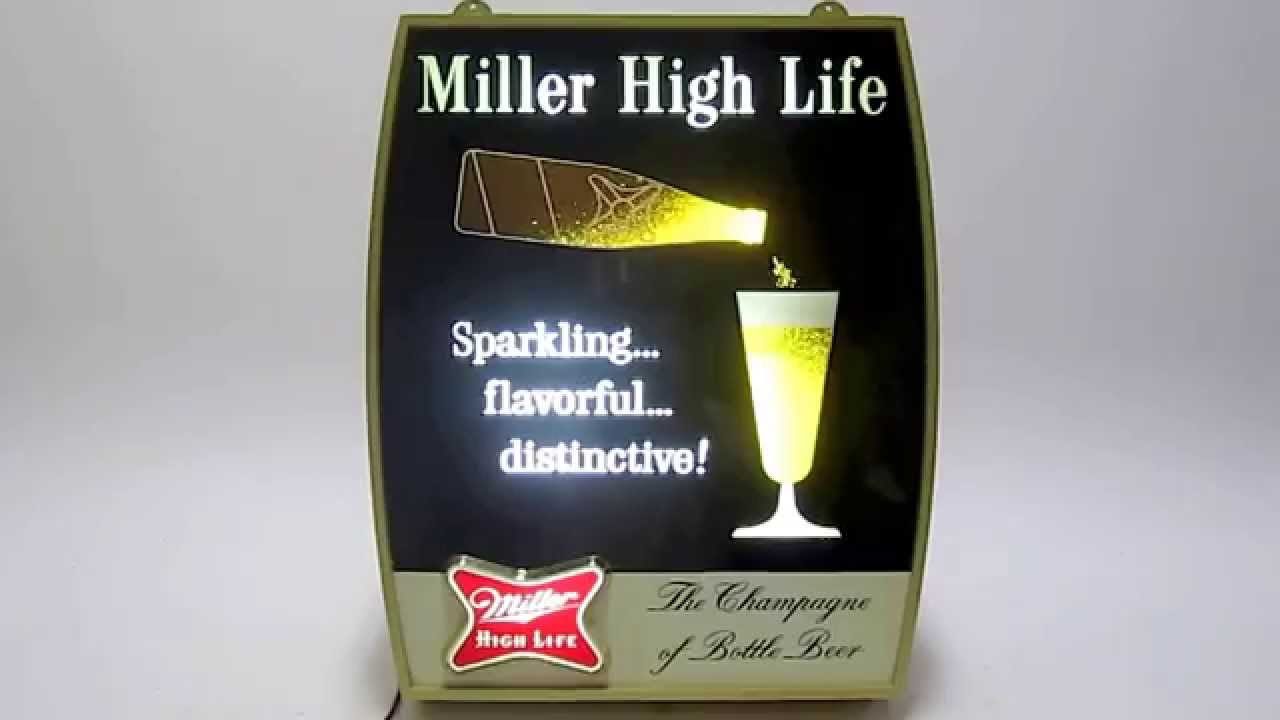 Miller high life pouring beerfilling glass motion light barman miller high life pouring beerfilling glass motion light barman cave sign youtube aloadofball Images
