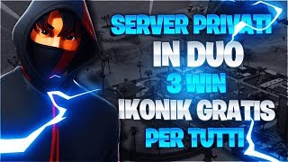 LIVE FORTNITE SERVER FORTNITE CONTEST SKIN IKONIK FREE ITA 8 SEPTEMBER 2019