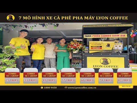 Xe cà phê mang đi | Xe cafe pha máy | 7 Mô hình kinh doanh xe Lyon Cafe 2021