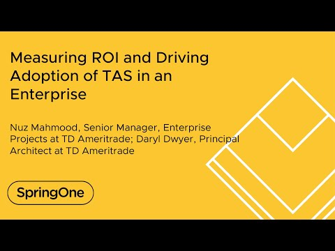 Measuring ROI and Driving Adoption of TAS in an Enterprise