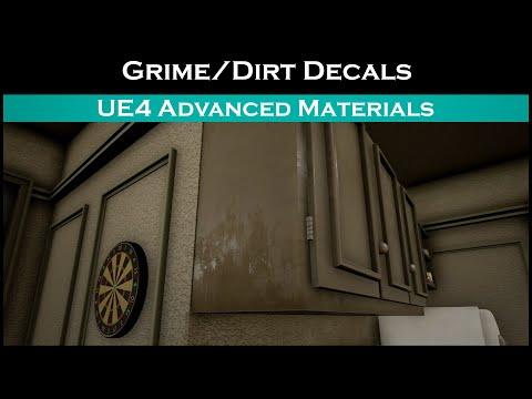 Ue4: advanced materials (Ep. 30 Adding grime/dirt using decals)