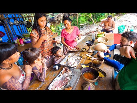 Village Food in AMAZON RAINFOREST - Lemongrass Ants + EXOTIC Energy Drinks! | Manaus, Brazil!