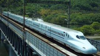 2017/4/30 N700系新幹線 新倉敷~岡山 高梁川橋梁にて。