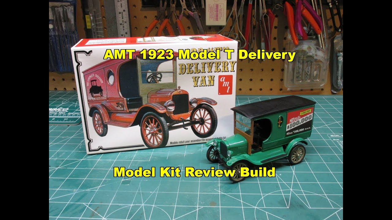 AMT 1923 FORD MODEL T DELIVERY 1/25 MODEL KIT REVIEW BUILD ...