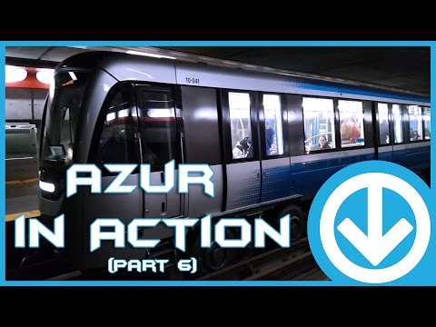 New Montreal's Metro Azur in action at various station (Part 6)