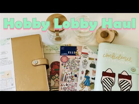 HOBBY LOBBY HAUL Paper Studio Containers Planner Agenda