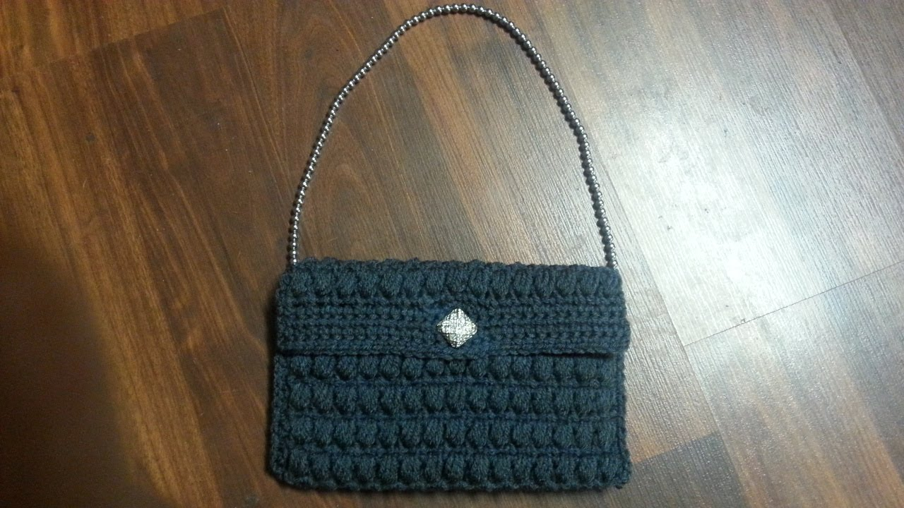 314a0ab7e9a4 CROCHET How To  crochet Puffy Stitch Purse! TUTORIAL  16 LEARN CROCHET DYI  - YouTube