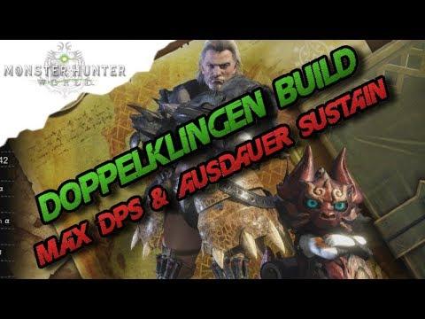 Monster Hunter World - Doppelklingen Build, Max DPS & Ausdauer Sustain (Deutsch/German) - MH thumbnail