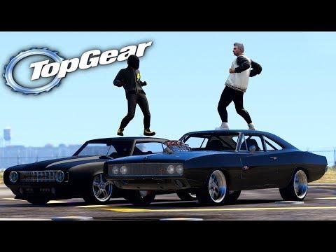 GTA V: TOP GEAR   CARRO DO FLASH vs MÁQUINA MORTÍFERA do TJ , QUAL CORRE MAIS ? - Tj