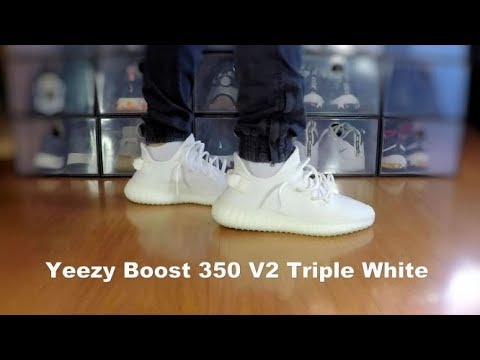e6c61ea5e0dc Yeezy Boost 350 V2 Triple White - On Feet. Steel Falcons Gaming