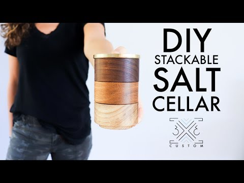 DIY Stackable Salt Cellar // Easy Woodworking Project // No Lathe // Scrap Wood Project