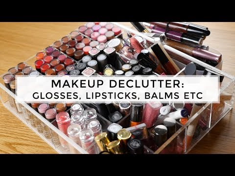 Makeup Collection Declutter 2017: Glosses, Lipsticks, Balms, Tints, Crayons & Lip Lacquers