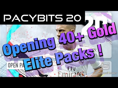 PACYBITS 20: Opening Over 40 Gold Elite Packs!