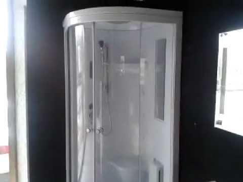 Box doccia multifunzioni 80x80 90x90 youtube - Cabina doccia muratura ...