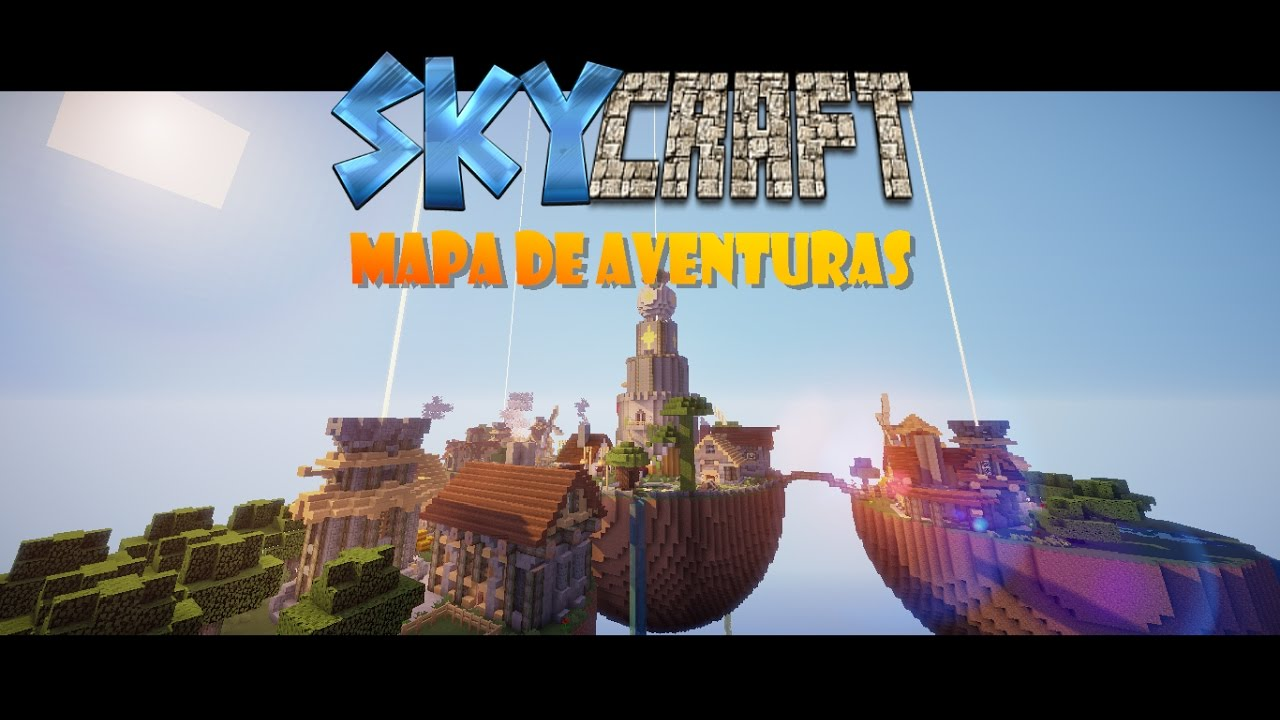 Nuevo Mapa De Aventuras De Minecraft 1 8 2017 Skycraft Trailer Youtube
