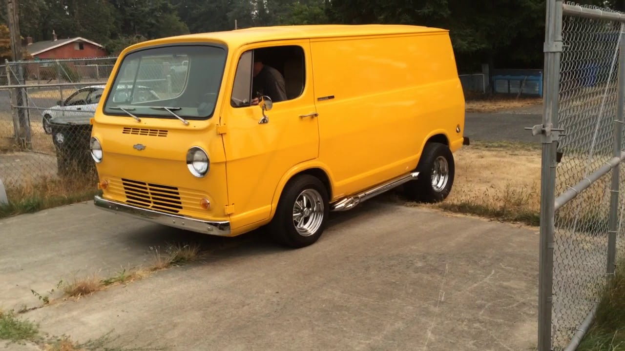 1965 chevy van start up and test drive youtube. Black Bedroom Furniture Sets. Home Design Ideas
