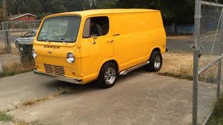 1965 Chevy Van start up and test drive