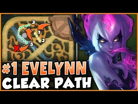THIS EVELYNN JUNGLE PATH IS THE FASTEST WAY TO SNOWBALL A GAME! - League of Legends